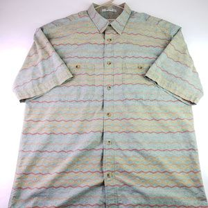 Orvis Aztec Native American Design SS Button Up